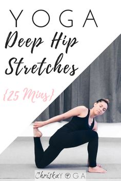 I'm sharing a 25 min yoga class for hip flexibility! This one has some very deep hip stretches, and it's an excellent way to gain and maintain flexibility...