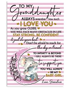 Shop for unique Granddaughter apparel and homegoods on CoolGrandmaStore. Find the perfect Granddaughter t-shirts, mugs, posters, phone cases, and more. My Children Quotes, Son Quotes, Husband Quotes, Daughter Quotes, Quotes For Kids, Family Quotes, Life Quotes, Grandkids Quotes, Quotes About Grandchildren