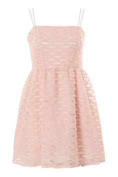 Tulle Trim Mini Prom Dress
