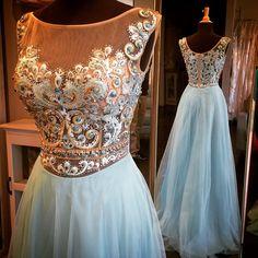 light blue prom dress, long prom dress,charming prom dress, beauty prom dress, 2018 evening dress from Ada Dress Blue Homecoming Dresses, Elegant Bridesmaid Dresses, A Line Prom Dresses, Dresses For Teens, Evening Dresses, Formal Dresses, Prom Gowns, Formal Prom, Gowns 2017