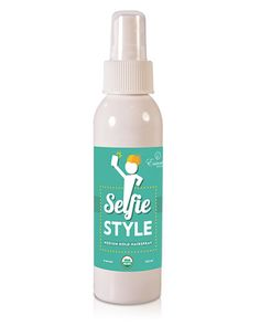 Certified USDA Organic® Selfie Style Hairspray Healthy natural medium all-day hold, clean citrus scent Rich in vitamins including B, C, and Alpha-Bisabolol Rich nutrients, minerals and antioxidants add depth, texture and shine Delivers natural highlights over time Healthy organic hairspray ingredients: organic grain alcohol denatured with organic orange, organic sucrose, organic molasses extract, organic citrus orange peel oil, organic chamomile flower extract, organic hibiscus flower…
