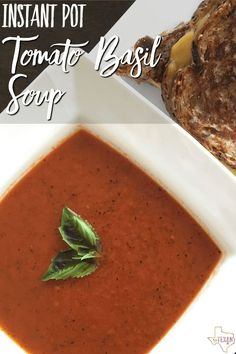 This Instant Pot tomato basil soup recipe comes together so quickly that you don't have to plan dinner ahead. You'd never know it didn't cook all day!