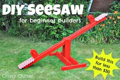 DIY Seesaw for kids! Make this for less than thirty bucks!    by Mallory @ Classy Clutter