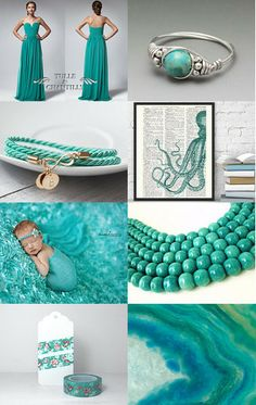 Sea colors - featuring shop TulleandChantilly by Marzena on Etsy--Pinned with TreasuryPin.com