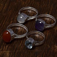 RAINBOW MOONSTONE WHOLESALE LOT 4 PCS MIX SILVER OVERLAY RINGS JEWELRY PW - http://jewelry.goshoppins.com/fashion-jewelry/rainbow-moonstone-wholesale-lot-4-pcs-mix-silver-overlay-rings-jewelry-pw/