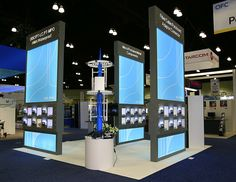 20x20 exhibition stand for Hj3w @ OFC, Los Angeles. To inquire about trade show booth rental in Los Angeles visit http://www.exponents.com/los-angeles-trade-show-display-exhibits-and-booth-rentals/