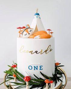 One Year Birthday Cake, Mary Birthday, Special Birthday Cakes, Wild One Birthday Party, Baby Birthday Cakes, Cake Designs Images, Cool Cake Designs, Rock And Roll Birthday, Fox Cake
