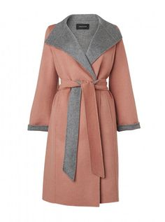 Jaeger double faced wrap coat, soo luxurious.