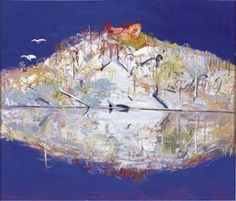 """Pulpit Rock Reflections"" by Arthur Boyd 1991"