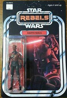 Custom Vintage Darth Maul Action Figure 3.75in Star Wars Rebels Hasbro Disney