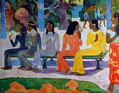 Paul Gauguin - Post Impressionism - Tahiti - Le marché - 1892