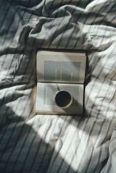 Coffee + a good book + bed = happiness