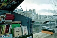 """""""Take Paris' Seine-side freewheeling booksellers known as the bouquinistes; where Hemingway and other great creatives of the Belle Epoque once browsed for a literary fix. As part of the French effort to preserve and encourage cultural heritage, all 200+ bouquinistes are today 100% free and exempt from paying taxes."""" This woman's blog looks very cool."""