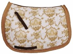 Equine Couture Tea House Dressage Saddle Pad ~ The elegant tea house print is sure to catch your eye while a fancy ruffle trim adds texture to this pretty dressage saddle pad. ~ http://www.haihorsie.com/saddlepads.shtml