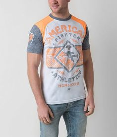 dcd8a868 American Fighter Hartwick T-Shirt - Men's T-Shirts in White Heather Grey  Orange | Buckle