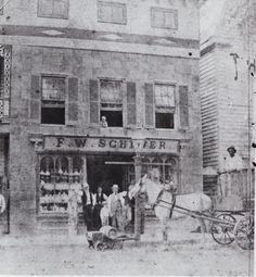 John Cross Tavern, Bay Street, downtown, 1860s