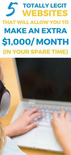 These 5 websites are THE BEST for making money fast. Discover how to make up to $1,000 a month fast.