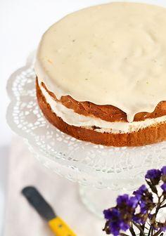 Ginger Sponge Cake with a Citrus Curd Glaze