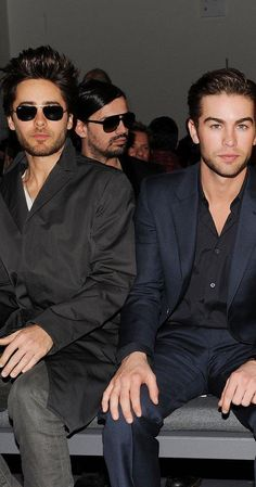 Jared Leto and Chace Crawford in Calvin Klein's #NYFW front row