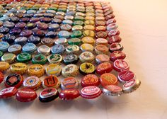 Square Metal Rainbow  bottle cap tapestry by RETTOCAMME on Etsy, $270.00
