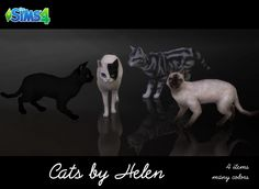 Cats (4 items) at Helen Sims • Sims 4 Updates
