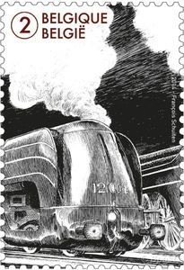 The world of the train - Augmented reality stamp