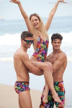 Moda praia -  Making of  da campanha de Verão 2013 da Blue Man com a top Ana Cláudia Michels