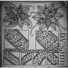Practice Tangles by Samantha Mason, via Behance Zen Doodle Patterns, Zentangle Patterns, Doodle Pages, Doodle Art, Small Doodle, Cool Doodles, Flower Doodles, Diy Arts And Crafts, Simple Art