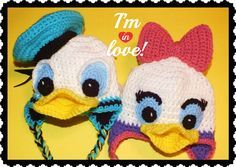 Connie's Spot© Crocheting, Crafting, Creating!: Free Donald & Daisy Duck Inspired Hats Pattern©