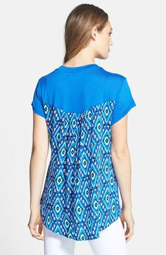 Bobeau Mixed Media Top | Nordstrom  - made in USA makes it even cuter