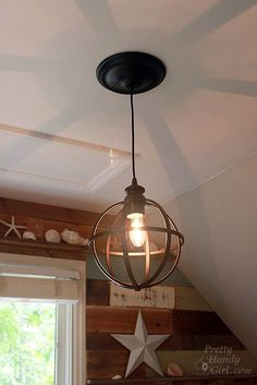 5 minute light upgrade - How to convert your recessed light to a pendant fixture.