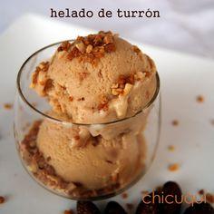 Receta de helado de turrón en chicuqui.com galletas decoradas y más