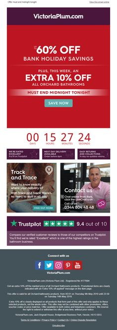 Countdown Timer in email from VictoriaPlum.com #EmailMarketing #Email #Marketing #CountdownTimer #Home