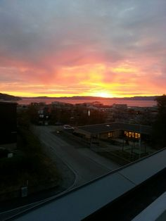 Beautiful view of a sunset in Trondheim