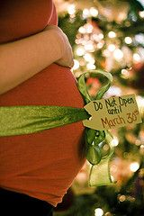 This would be a cute pregnancy announcement if you hadn't told anyone yet. Merry Christmas with a baby bump!