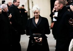 Lily Allen attends the Chanel show as part of the Paris Fashion Week