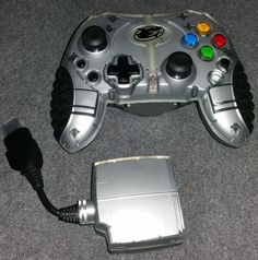 GAMESHARK 2.4ghz wireless controller for Original Xbox comes with its receiver #Microsoft