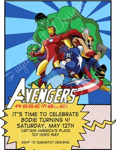 sugartotdesigns: Superhero Cupcake Toppers and Avengers Party Pack{at SugarTot Designs: the store}