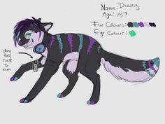 Dizzy, a striped fursona.