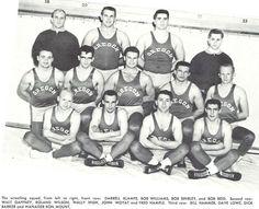 1953-54 Oregon wrestling team. From the 1954 Oregana (University of Oregon yearbook). www.CampusAttic.com