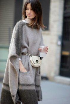 Пончо с карманами - Теплые пальто, пончо, накидки - Галерея - Artzacepka форум