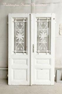 フレンチアイアングリルガラスドア パディントン アンティーク家具