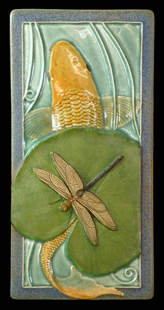 Art tile Sculpture wall art ceramic tile door MedicineBluffStudio