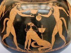 British Museum E 768 Ancient Greek Sculpture, Ancient Greek Art, Ancient Greece, Greek Pottery, Pottery Art, Satire, Paintings Of Christ, Greek Soldier, Statues