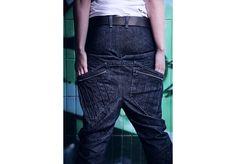 Tegan Look 2 Parachute Pants, High Fashion, Street Wear, Unisex, Denim, Collection, Couture, High Fashion Photography, Streetwear