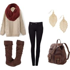 scarf, boots & sweater :)