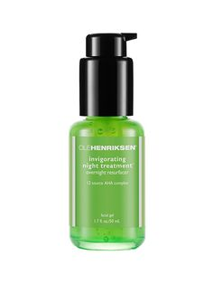 Ole Henriksen Invigorating Night Treatment A mix of glycolic, lactic, and citric acids gently sloughs off the top layer of dry, dull skin. When you wake up, rinse away the gel and follow up with a moisturizer.