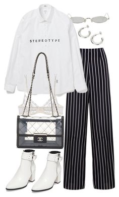 """""""Untitled #11592"""" by nikka-phillips ❤ liked on Polyvore featuring Gentle Monster, Miss Selfridge, La Perla and Steve Madden"""