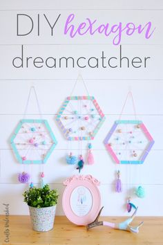 How to Make Hexagon Dreamcatchers For Kids - 33 DIY Dreamcatcher Ideas with Step by Step Patterns - DIY & Crafts Crafts For Teens To Make, Diy For Teens, Diy For Kids, Craft Projects, Crafts For Kids, Teen Diy, Diy Crafts For Teen Girls, Diy Projects For Teens, Easy Diy Crafts