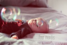 Finn, You are four months old - where did the time go? We love you more and more .